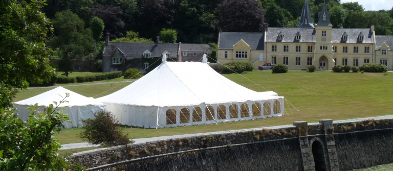 Have your Absolute Canvas wedding marquee at Place House in Cornwall.