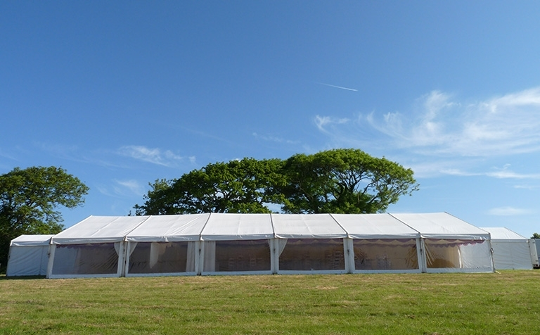 Cornwall Marquee Hire modern clear span marquees