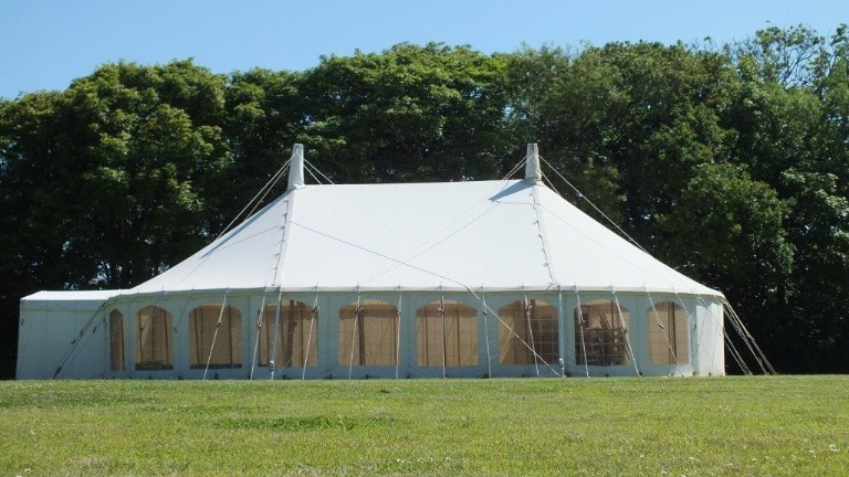 Cornwall Marquee Hire oval traditional marquees