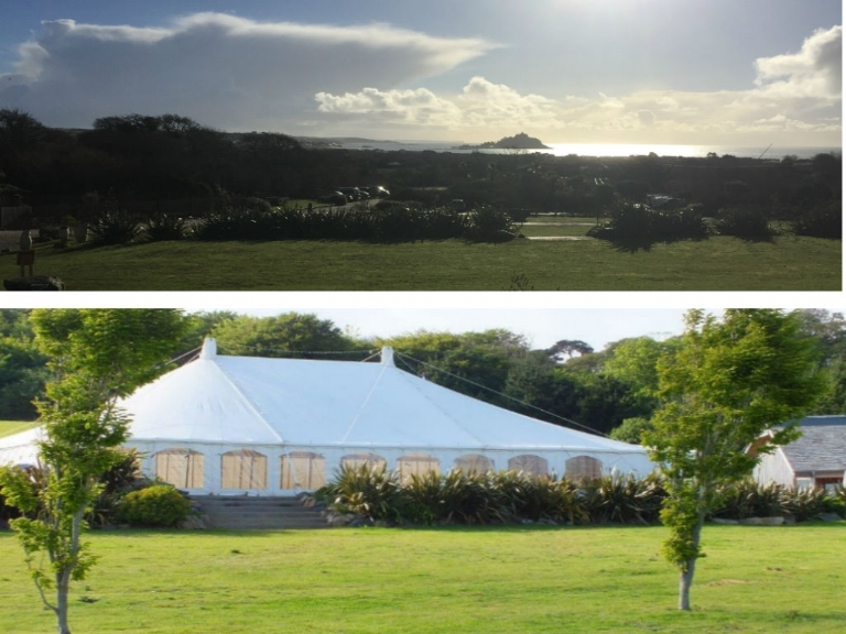 Have your Absolute Canvas wedding marquee at Tremenheere Sculpture Gardens in Cornwall.