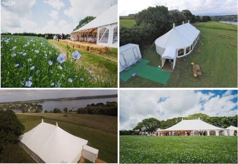Have your Absolute Canvas wedding marquee at Restronguet Barton in Cornwall.