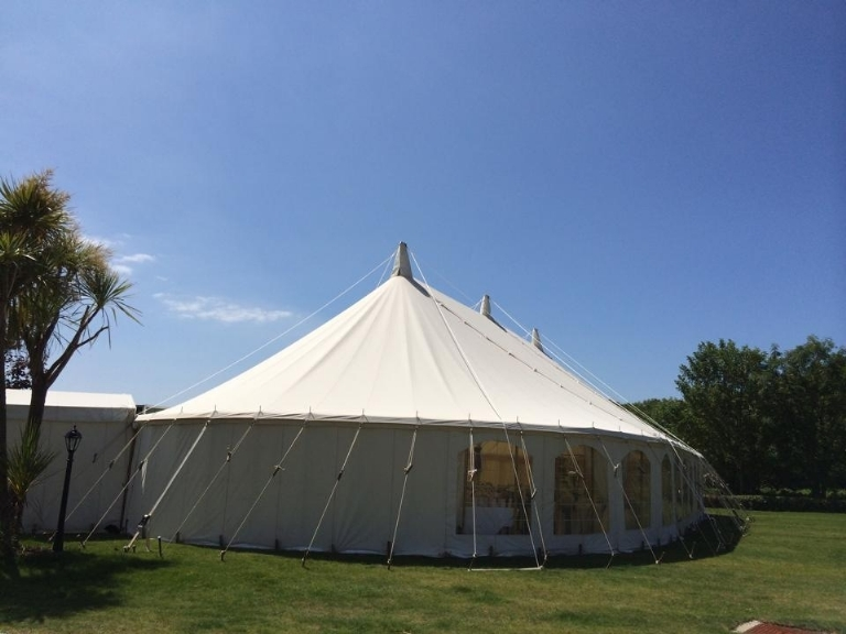 Have your Absolute Canvas wedding marquee at Boringdon Hall in Cornwall.