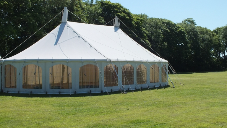 Have your Absolute Canvas wedding marquee at Lanyon Meadow in Cornwall.